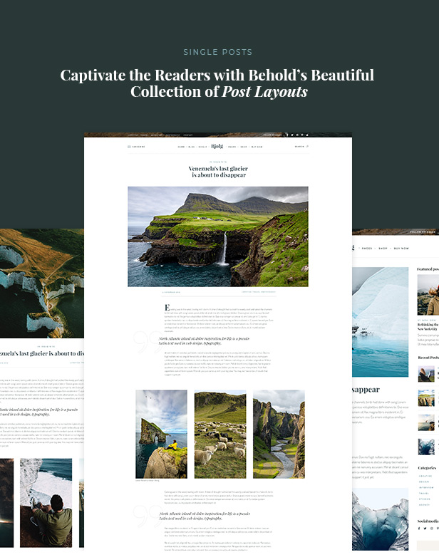 Behold - Personal Blog WordPress Theme - 5